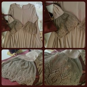 💕Romantic Tunic/Dress💕 Fab~ Flare Lace Sleeves